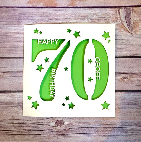 Personalised 70th birthday card dad 70th card mum 70th card like this item bookmarktalkfo Image collections