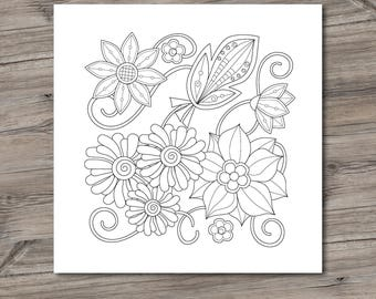 Printable Coloring Pages - Adult Coloring Pages, PDF printable, Doodles - Instant Download only