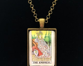 The Empress Tarot Card Necklace | Tarot Jewelry | Rider Waite Tarot