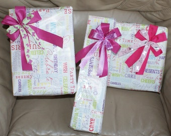 3 bows in set- girls presents,gifts wrap-handmade