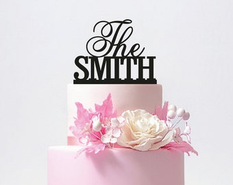 Personalized Wedding Cake Topper with YOUR Last Name / ST002