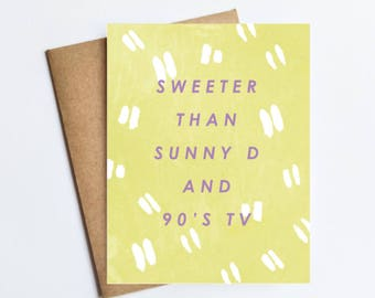 Sunny D Tv - NOTECARD - FREE SHIPPING!