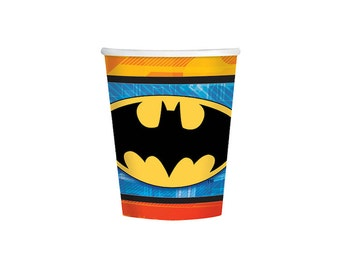 Batman Paper Cups - 9oz, Paper Cups, Party Supplies, Tableware