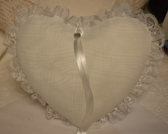 Heart Shaped Wedding Ring Pillow