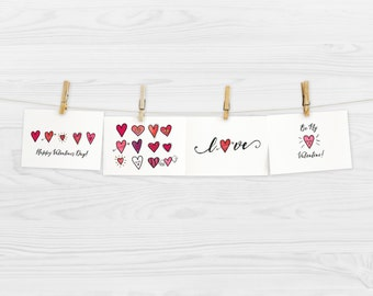 5x7 - Digital Valentine Card Print Collection