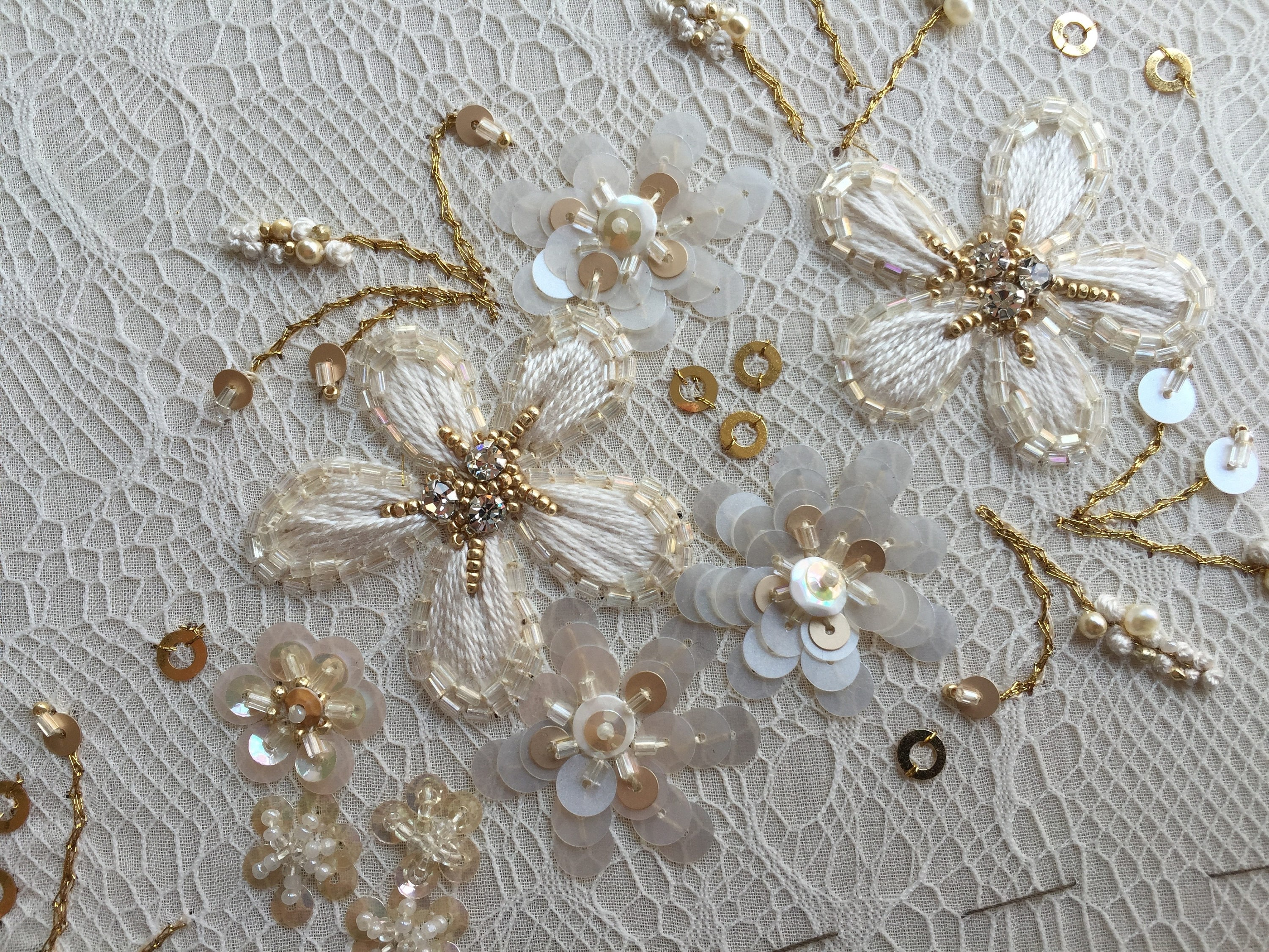 Embroidery Sequins Gold Tambour Embroidery Tambour Hook Lesage