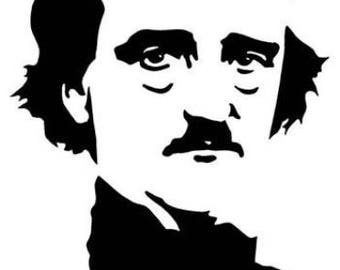 Edgar Allan Poe, Vinyl Decal, Sticker, Poetry, Mystery, Car, Tumbler, Gift, Decoration, Nevermore, Raven