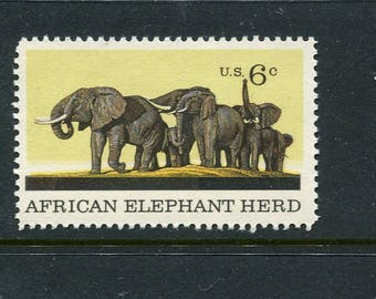 Elephant Stamps /5 Unused Stamps/African Elephants