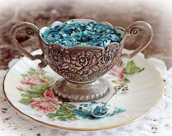 Reneabouquets Shard Glitter Glass ~ Mermaid  40 Grit German Glitter Glass Choose Your Size .5 oz Jar or 2 oz Jar