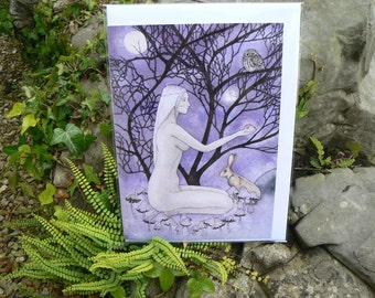 Hedgewitch Greetings Card