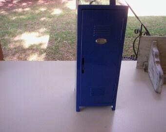Vintage mini storage/Vintage mini locker/Miniature locker/Small metal school locker/Making doll house/Small Storage metal with shelf