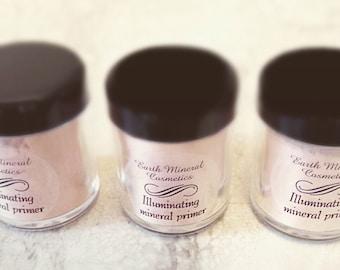 Mineral Makeup Illuminating Face Primer • High Definition Airbrush Makeup Powder • Skin Brightening Powder • Earth Mineral Cosmetics Brand