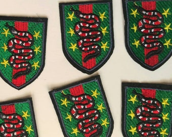 Patches snakes iron on. Coral snakes patches. Red snakes. Chevron patch.