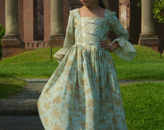 Custom Girls Colonial Dress sizes 10-14  sc 1 st  Etsy : girls colonial costumes  - Germanpascual.Com