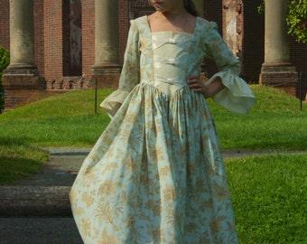 Custom Girls Colonial Dress sizes 10-14  sc 1 st  Etsy & Girls colonial dress