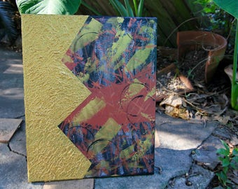 Original Abstract Painting   Abstract Metallic Wall Art   Acrylic Paintings on Canvas   Home Decor