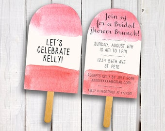 Popsicle Shower Invitation