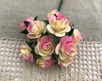 Set of 10 Handmade Paper Flowers