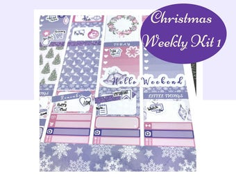 Weekly Kit | Winter Weekly Kit | Winter Stickers | Planner Stickers | Weekly Stickers | Vertical Kit | Erin Condren | Happy Planner |  WK20