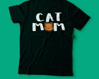 Cat Mom TShirt - Cute Cat T-Shirt - Cute Animal TShirt  - Mens Ladies Sizes 100% Cotton Tee - Cat Lover T-Shirt - Kawaii - Cute Kitty TShirt