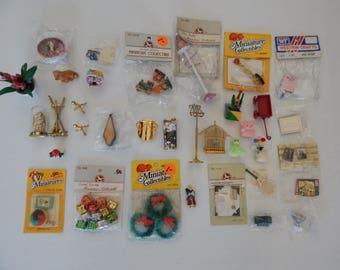 Dollhouse Miniature Acessories Lot 33+ Items New