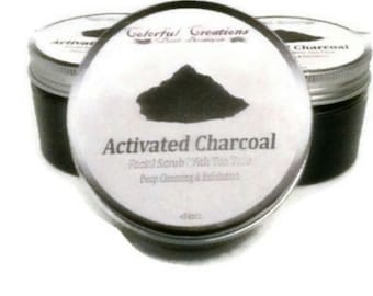 Activated Charcoal Facial Scrub With Tea Tree ( Deep Cleansing & Exfoliation)