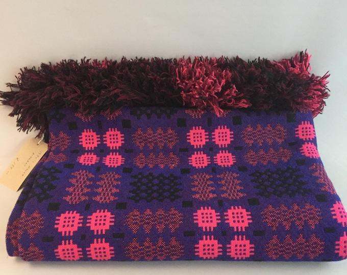 1970s welsh wool woven blanket