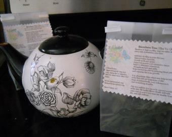 Bamboo Tea,,Zhu Ye Qing, naturally decaffeinated, Earl Grey bergamot blend, 20 tea bags