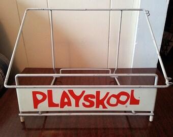 Vintage Playskool Metal Display Rack