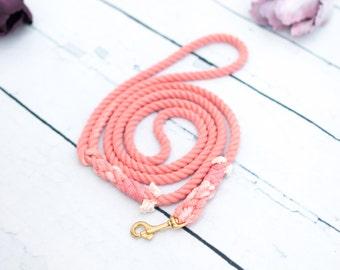 Ombre leash, Custom rope leash, Hundeleine Ombre, Pet lead, Pet gift, Dog rope leash, Nautical dog, Puppy leash, Soft leash, Colorful leash
