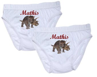 Pants boys dinosaur personalized with name