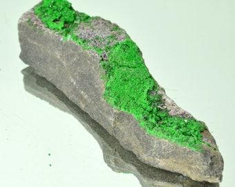 Uvarovite Crystals Stone specimen garnet druzy zodiac 92 grams, natural stone, healing crystal #10085