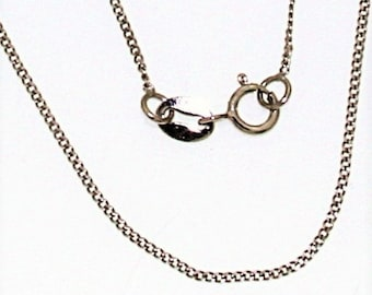 chain sterling silver, curb style chain, greek silver jewelry, silver 925 jewel chain, 40-45-50cm