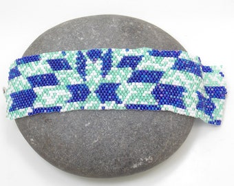 Beaded Bracelet, Peyote Cuff, Beaded Cuff, Unique Jewelry, Gift for Her, Colorful Jewelry, Beadwoven Bracelet, Birthday Gift