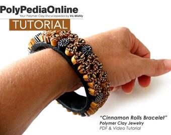 Polymer Clay Tutorial, Polymer Clay Jewelry, DIY Beads, Fimo Jewelry, DIY Handmade beads, Bracelet Tutorial, Cuff Tutorial, diy Craft, PDF
