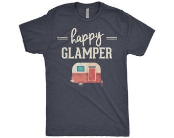 Happy Glamper Shirt - Happy Glamper - Glamping, Camping, Happy Camper T-Shirt