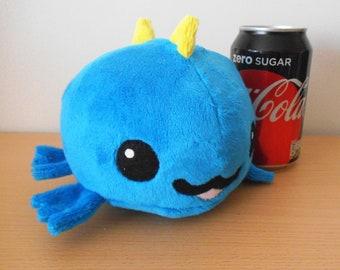 Kawaii blue baby dinosaur plush toy