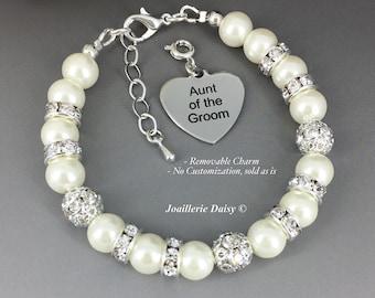 Aunt of the Groom Bracelet Gift for Aunt Aunt Bracelet Pearl Bracelet Bridal Party Jewelry Gift for Aunt of the Groom