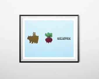 Bears, Beets, Battlestar Galactica - The Office Wall Art