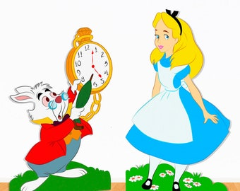 Alice in Wonderland - Package of 6 - Party Decor - Party Prop - Cut out - Wonderland Birthday