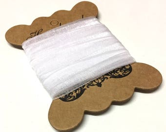 5M, white organza ribbon, white ribbon, white ribbon, 3mm ribbon, craft ribbon, white sheer ribbon, sheer ribbon, craft supplies uk, wedding