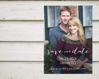 Classic Save the Date, Photo Save the Date, Digital File