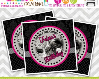 FVTAGS-457: DIY - Masquerade Favor Tags Or Stickers