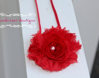 red headband, baby headband, infant headband