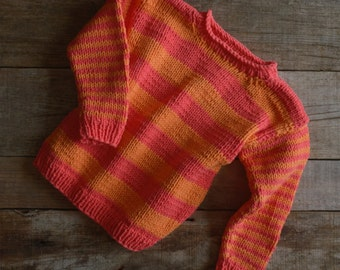 Hand knitted childrens sweater