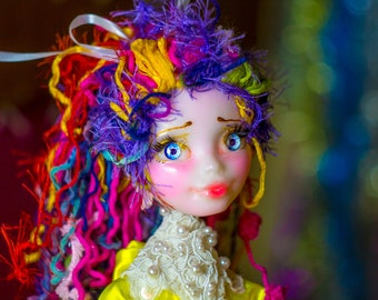 Fairy Bendable doll, bendable figure, poseable elf, bendable toy, OOAK art doll, bendy elf, pixie handmade doll art handsculpted handcrafted