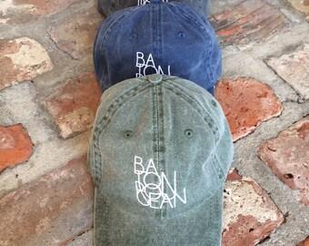 Hey, Penelope BATON ROUGEAN Vintage Wash Embroidered Hat