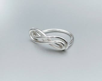 Double Infinity Wire Ring