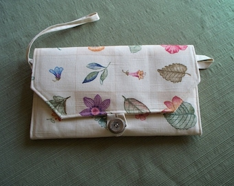 CLUTCH PURSE, Floral Sketch Blocks