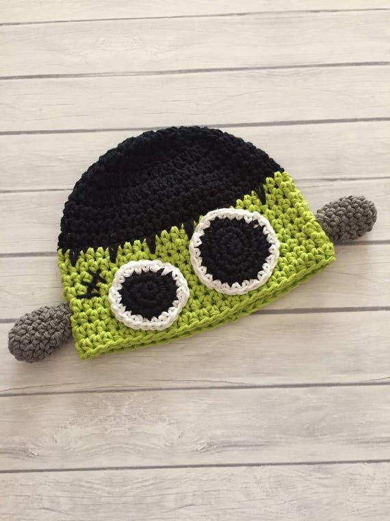Frankenstein-Hut Halloween-Hut häkeln Frankenstein Monster